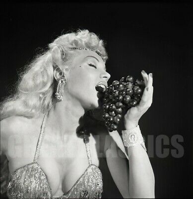 LILLY CHRISTINE BURLESQUE DANCER 1950s 2 1/4 CAMERA NEGATIVE PETER BASCH