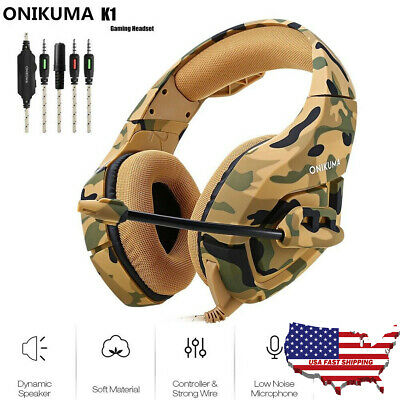 K1 Stereo Bass Surround Gaming Headset for PS4 Slim Pro New Xbox One XPC Mic USA
