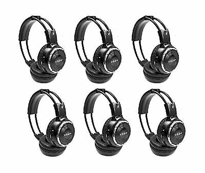 6 Pack of Two Channel Folding Adjustable Universal Rear Entertainment System ...