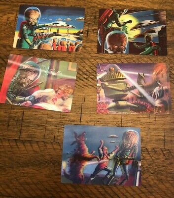 2012 Mars Attack 5 Card 3-D Set - NM-M