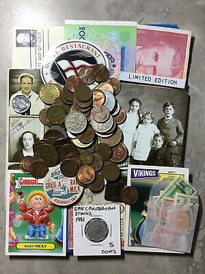 Wholesale Collectible Junk Drawer LOT#23 Vintage US Coins World Bank Notes..