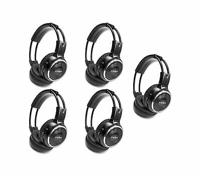 5 Pack of Two Channel Fold Adjustable Universal Rear Entertainment System Inf...