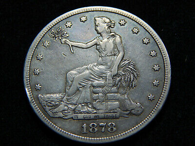 1878-S T$1 Trade Dollar VF+, Great Coin!
