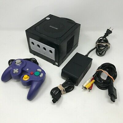 Nintendo Gamecube Console System Complete w Cords Controller Black DOL-001 WORKS