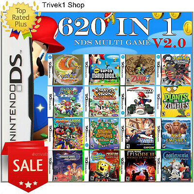 620-in-1 Multi Game Cartridge. Nintendo DS 3DS Multicart Great for Children