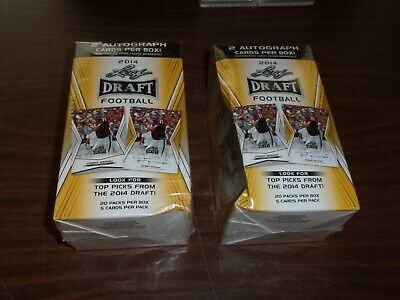 (2) 2014 Leaf DRAFT BLASTER Football Box(es) FACTORY SEALED 2 autographs per