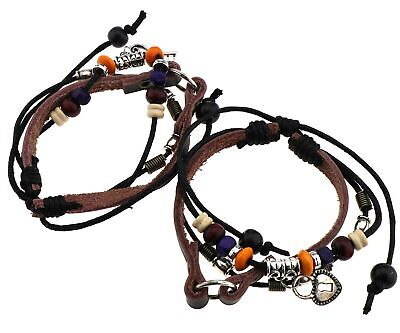2x Multi Colors Lock and Key Couples Bracelets Friendship Lovers Bracelet Newest