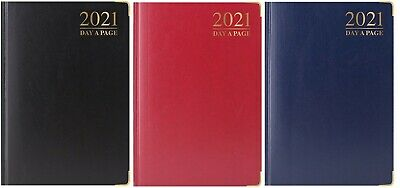 2021 A4/A5 Diary Day to Page or Week to View Desk Diary Premium Padded Diary