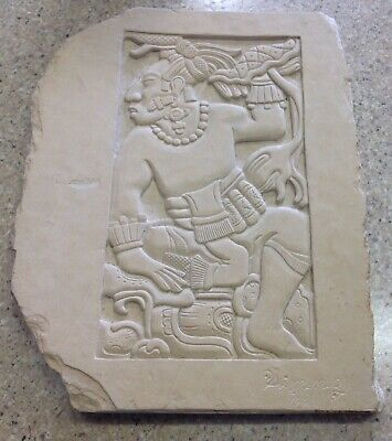 Mayan Relief Carved Replica - Hand-Carved