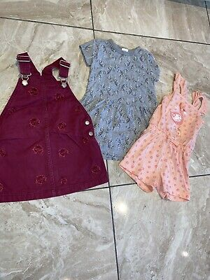 Girls Age 2-3 Bundle Playsuit Dress & Pinafore Next George F&F