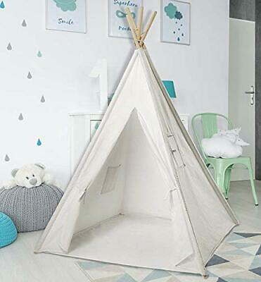 Teepee Tent for Kids | White Kids Teepee Tent | Tipi Tents Indoor Outdoor |
