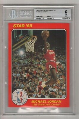 1985 Star Slam Dunk Supers 5 X 7 #5 Michael Jordan BGS 9 ROOKIE rc 1984 draft