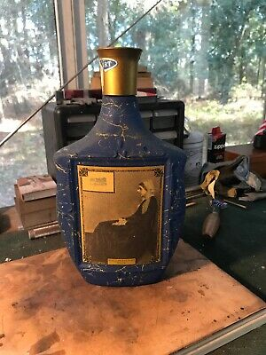 Jim Beam 1968 Decanter Bottle Blue Whistler's Mother Collector's Edition Vol.III