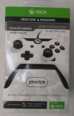 Xbox One And Windows Stealth Series Ghost White Wired Controller