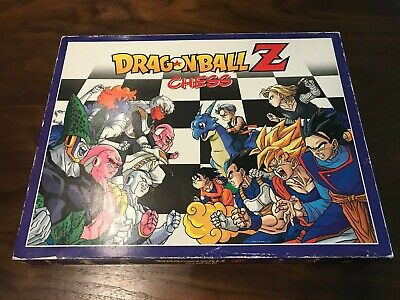 Dragon Ball Z Collector's Vintage FULL Chess Set, RARE FIND