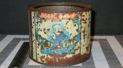 """Rustic Vintage HOFFMAN'S OLD TIME COFFEE Tin Can """"Rare"""""""