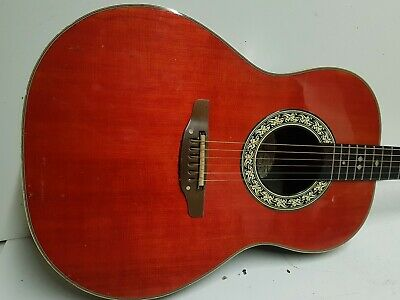 70's OVATION ELECTRO ACOUSTIC - made in USA - FISHMAN PICKUP