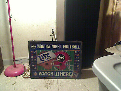 vintage lite beer lighted sign w/4 inserts