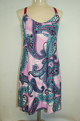 Womens Babydoll Nightgown LAVENDER TEAL NAVY PURPLE PAISLEY Racerback 2X 18W-20W