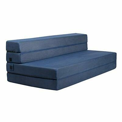 Milliard Tri-Fold Foam Folding Mattress and Sofa Bed for Guests - Queen (Queen)