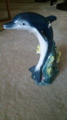 Beautiful Collectible Ceramic Dolphin Statue - MINT & RARE!!!