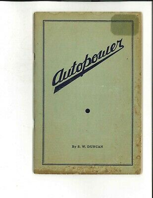 Autopower Book by S.W. Duncan
