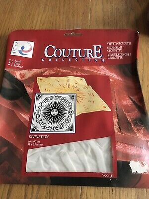 Artys Couture Collection Divination Silk Painting Scarf Velvet BNIP