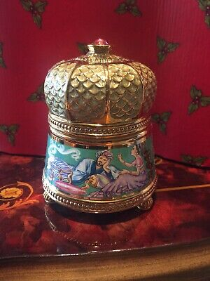 House of Faberge Franklin Mint Scheheregade Jewelry Trinket Music Box Beautiful