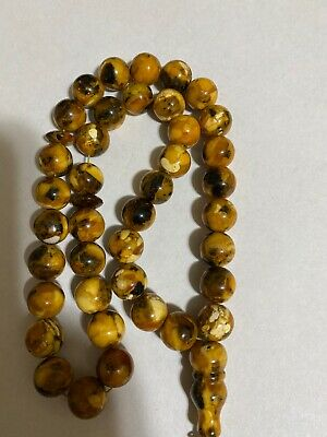 natural amber misbaha hand made more than 40 year old amber pics كسارة عنبر