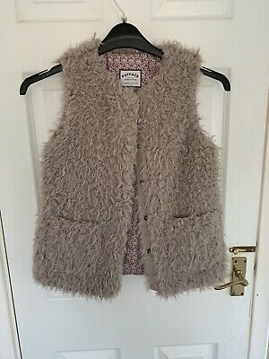 Fat Face Furry Gilet Ages 10-11
