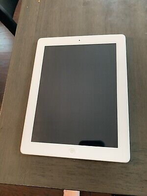 "Apple iPad 4th Generation 16 GB A1458 - 9.7"" Retina Display Wi-Fi White iPad 4"
