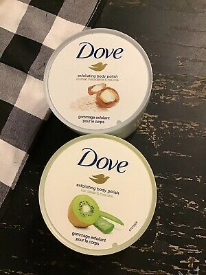 2 X Dove Exfoliating Body Polish Crushed Almond Mango Butter 10 5 Oz Each 19 99 Picclick