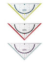Herlitz Plastic Blue,Red,Transparent,Yellow 16 cm Geometry triangle 11367950