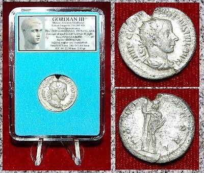 ANCIENT COIN GORDIAN III Silver Double Denarius JUPITER on reverse