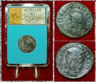 Ancient Roman Empire Coin AURELIAN Emperor And Concordia Antoninianus