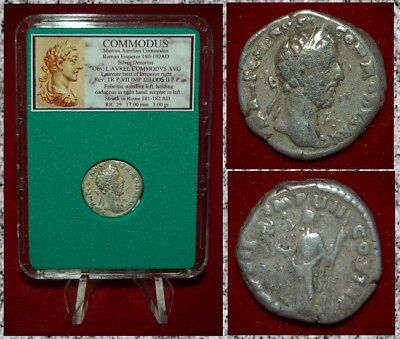 Ancient Roman Empire Coin Of COMMODUS Felicitas On Reverse Silver Denarius