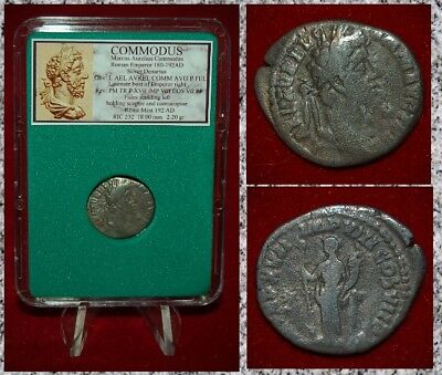 Ancient Roman Empire Coin Of COMMODUS Fides On Reverse Silver Denarius