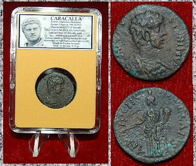 Ancient Roman Empire Coin Of CARACALLA Genius Holding Cornucopia On Reverse