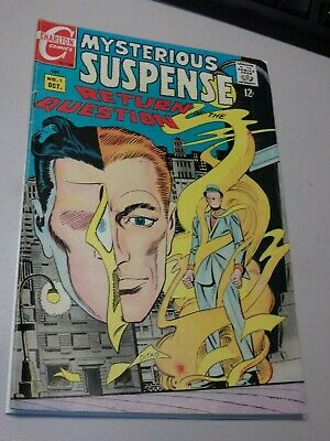 Mysterious Suspense #1 1968. Charlton. The Question. Silver Age Steve Ditko