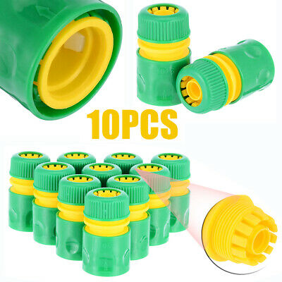 UK_ 1/2 inch Adapter Quick Coupling Irrigation Hose Connector Garden Tools 10Pcs