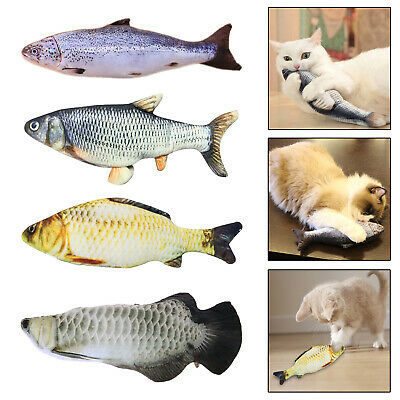 Pet Cat Electric Wagging Fish Toy Catnip Chewing Toys for Cats Biting Kicking US