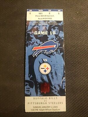Pittsburgh Steelers vs. Bills Jan 2 2005 Ticket Stub 15-1 Win Season | Polamalu