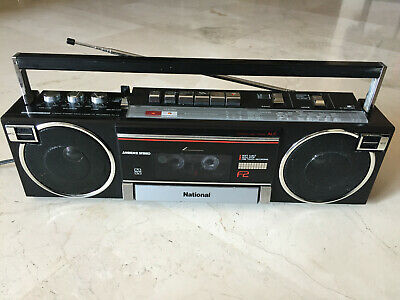 Vintage NATIONAL RX-F2F radio cassette recorder boombox