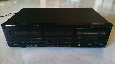 Vintage PIONEER CT-W310 double stereo cassette deck, working