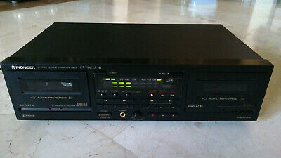 Vintage PIONEER CT-W401R double stereo cassette deck, 1992