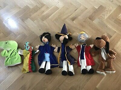 6 X Hand Puppet Some Vintage