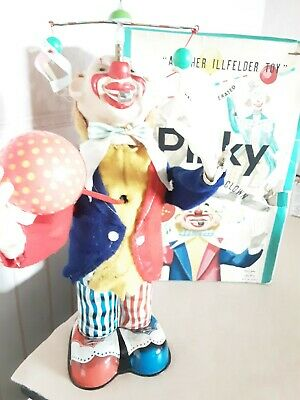 Alps (Japan) Pinky The Juggling Clown 1950s in original box battery Operated toy