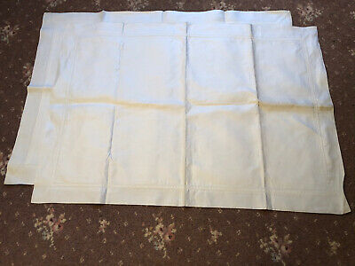 Pair Of Vintage Irish Linen Pillowcases.