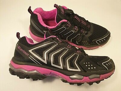 Karrimor size 6 (39) black / pink elastic laces sports trainers running shoes