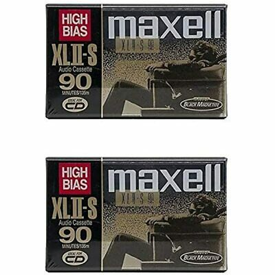 Maxell XLII-S 90 Minutes High Bias Cassette Tape (2 Pack) Home Audio &amp FREE